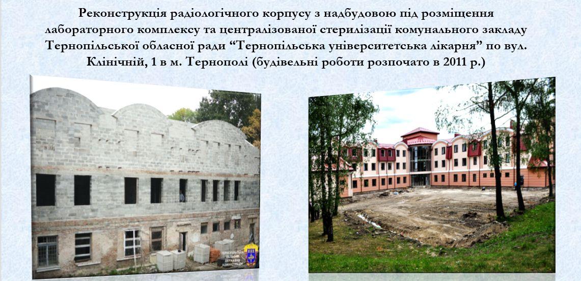 Готується до здачі радіологічний корпус Тернопільської обласної лікарні / Прес-служба ТОДА