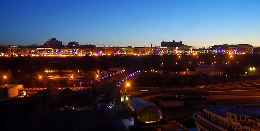 """""""Зимовий захід"""": мальовничий горизонт над Приморським бульваром Одеси показали на відео"""