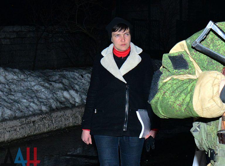 Nadia Savchenko in occupied areas of Donetsk region / pro-militant website
