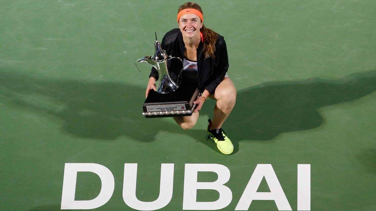 Перемога в Дубаї дозволила Світоліної першою з українок увійти в Топ-10 світового рейтингу / dubaidutyfreetennischampionships.com