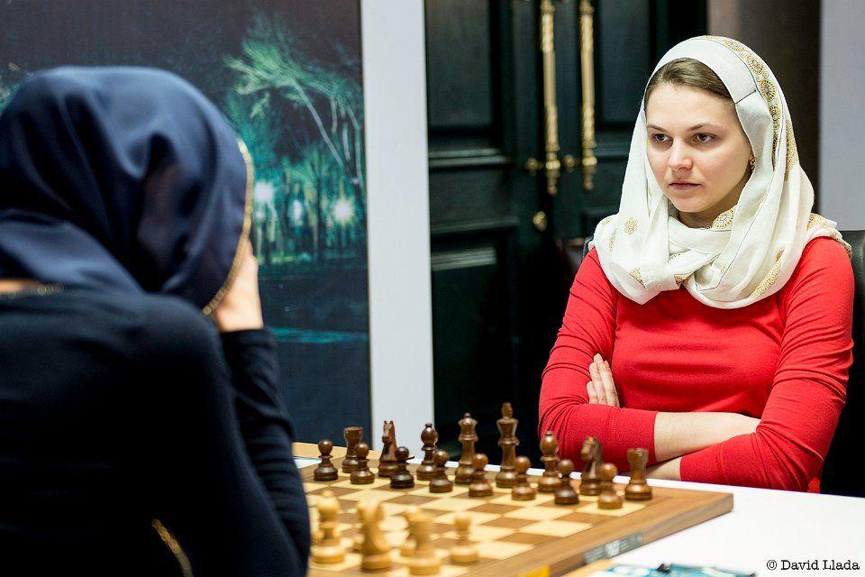 Анна Музычук сыграла вничью в первой партии финального матча ЧМ / tehran2017.fide.com