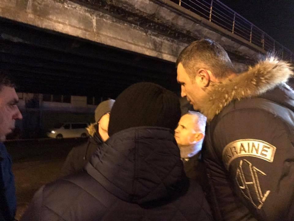 На место инцидента прибыл мэр Киева