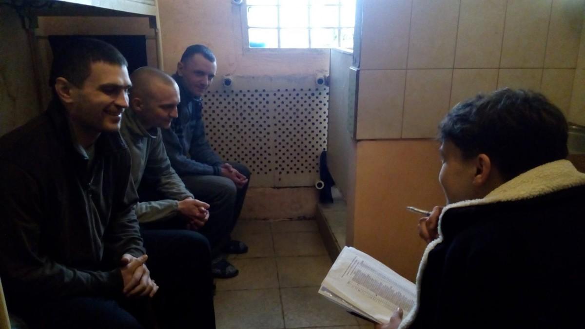 Савченко посетила Макеевскую колонию / facebook.com/Savchenko.Nadiia/