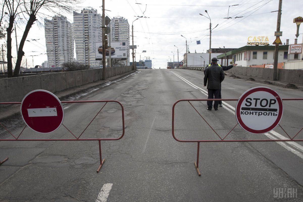 Съезды с Шулявского путепровода закрыты из-за реконструкции / фото УНИАН