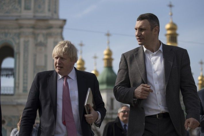 Виталий Кличко и Борис Джонсон в Киеве / Фото kievcity.gov.ua