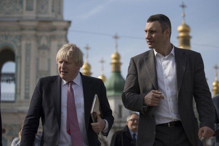 Борис Джонсон в Киеве / фото kievcity.gov.ua