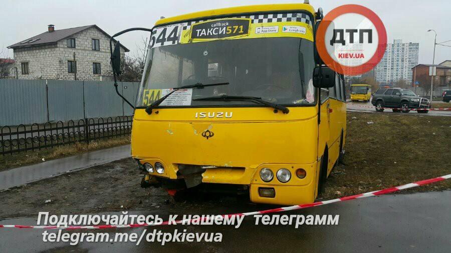 Захвачена маршрутка в Киеве / facebook.com/dtp.kiev.ua