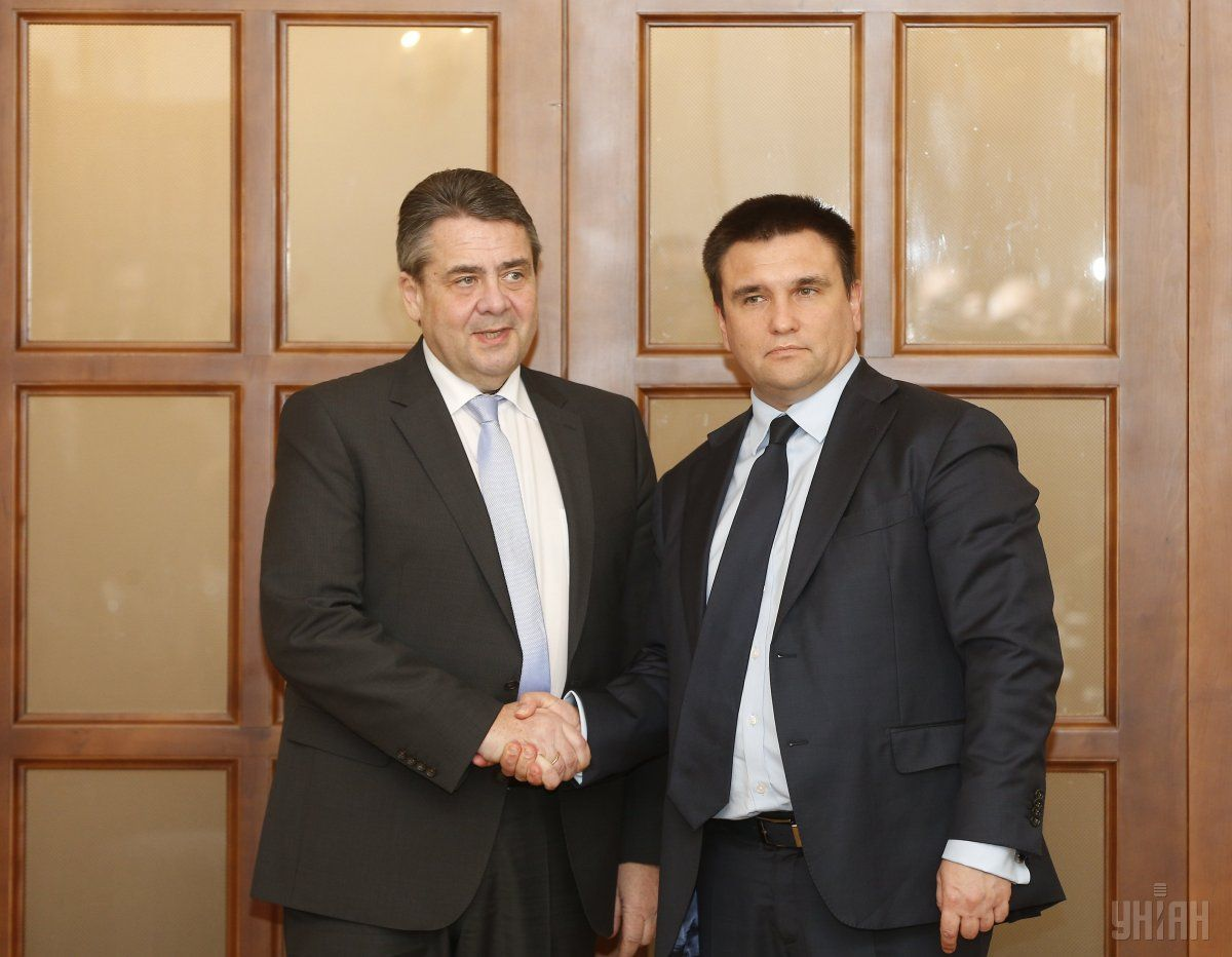 Pavlo Klimkin and German Foreign Minister Sigmar Gabriel in Kyiv / Photo from UNIAN