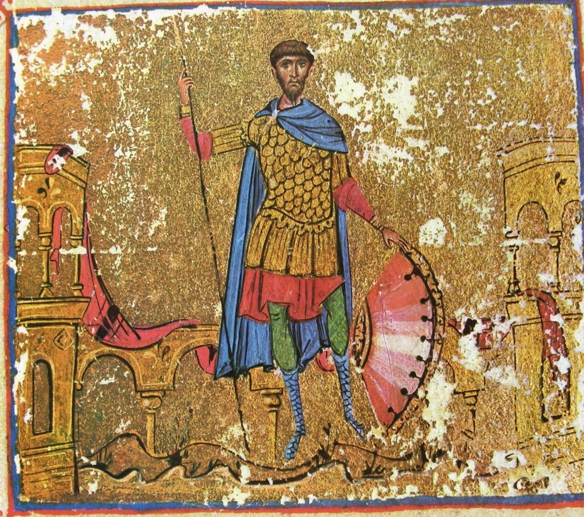 Великомученик Феодор Тирон. Монастырь Дионисиат. Афон XI век.