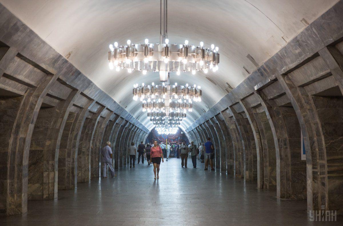 Могут ограничить вход на станцию метро «Олимпийская» / фото: УНИАН