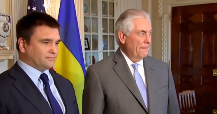 Klimkin and Tillerson / screenshot