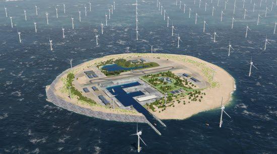 Три країни збудують у Північному морі острів з вітровими електростанціями / energinet.dk