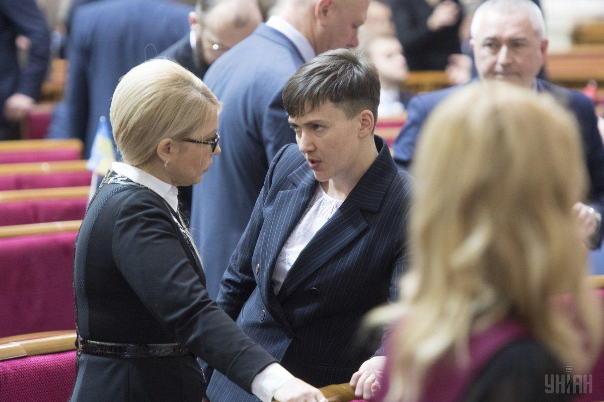 Тимошенко заявила, что они расстались с Савченко мирно / фото УНИАН
