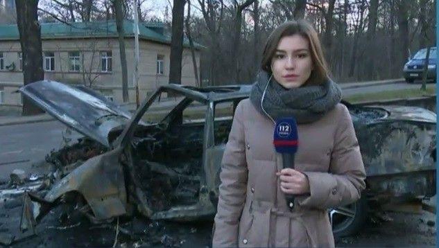 Авутомобиль повністю згорів / Фото 112.ua