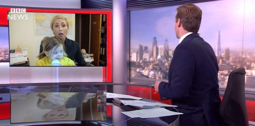 Пародія на перерване дітьми професора інтерв'ю BBC стала хітом в мережі