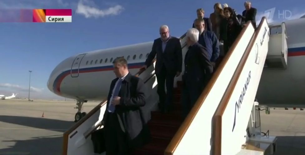 PACE President visits Syria with Russian Duma delegates / Screenshot