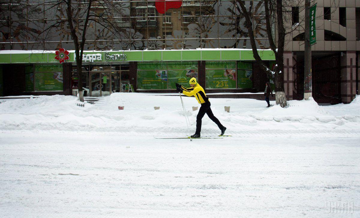 Снігопад у Києві 22 березня 2013 року / УНІАН