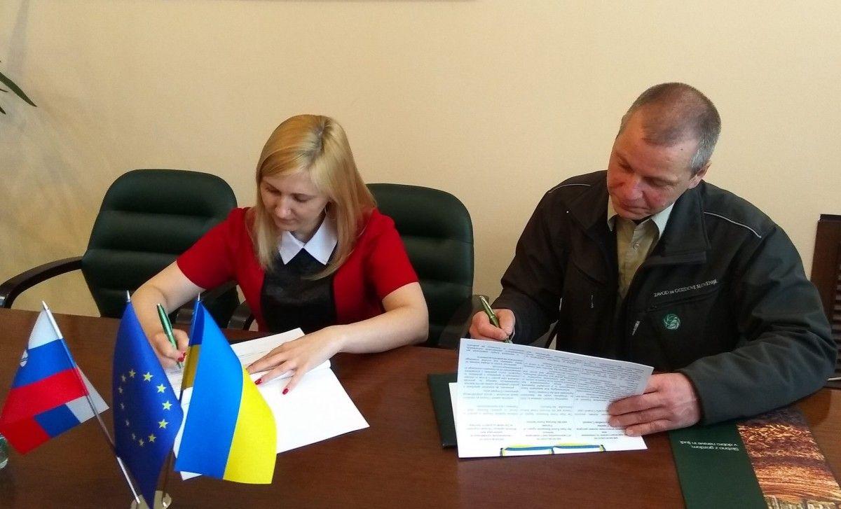 Подписание меморандума между Украиной и Словенией / Фото facebook.com/kristina.yushkevych