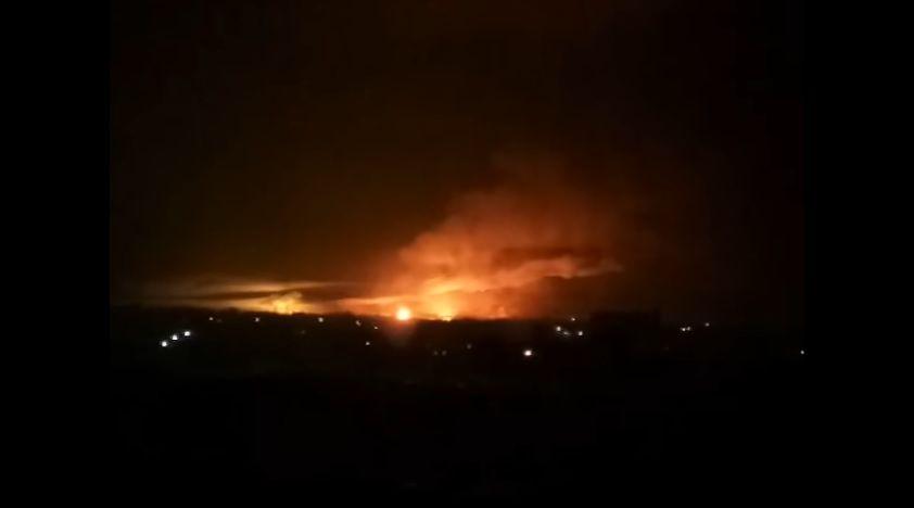 В Балаклее загорелся склад боеприпасов / Скриншот