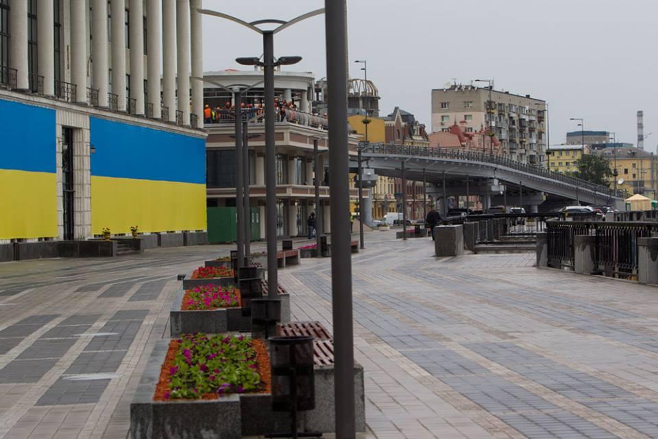 Пішохідна зона на Поштовій / Kiev24