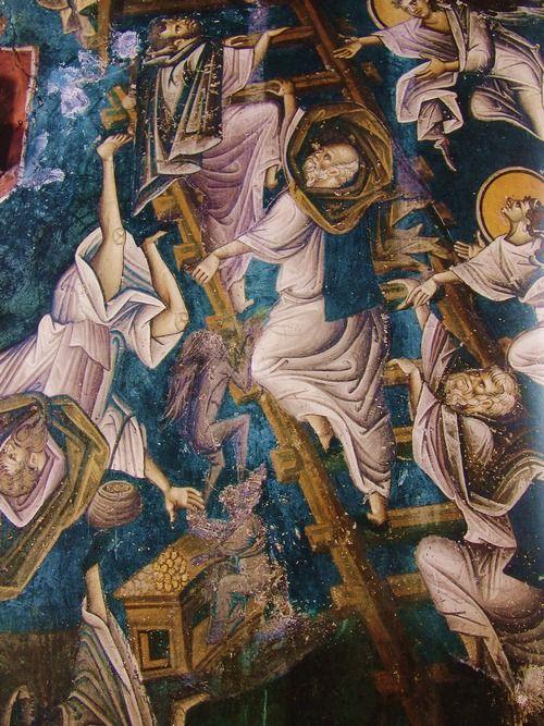 Фото: иконография Лествицы, монастырь Дионисиат