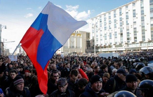 Акции протеста в РФ, иллюстрация / REUTERS