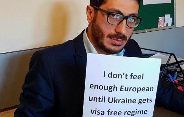 Грузины устроили флешмоб вподдержку «визовых» украинцев