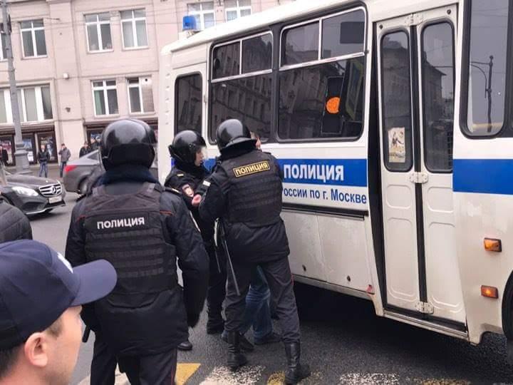 Задержания начались с момента начала акции / twitter.com/OgonWatch