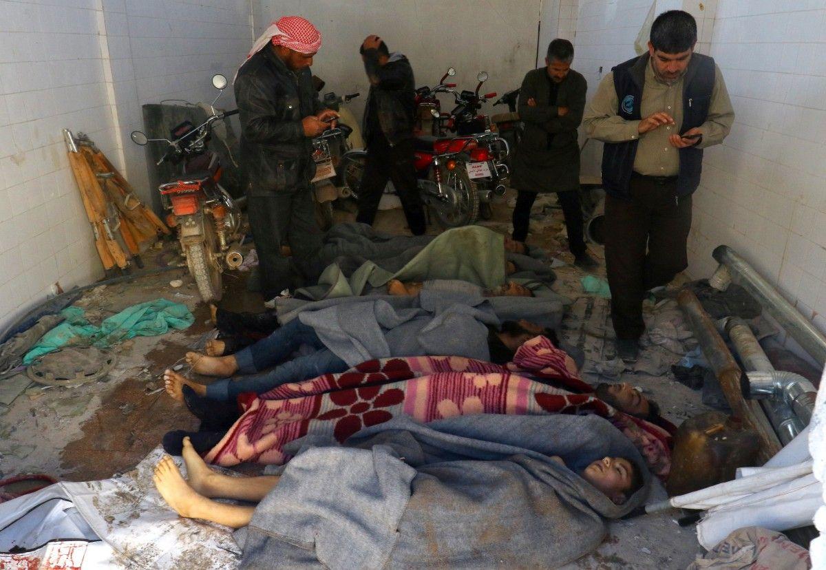 Химическая атака в Хан-Шейхуне / REUTERS