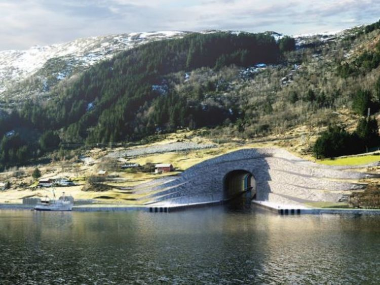 Проект тоннеля / Kystverket/ Norwegian Coastal Administration