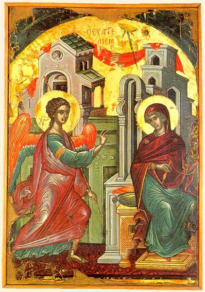 Благовещение Пресвятой Богородицы. Афон.