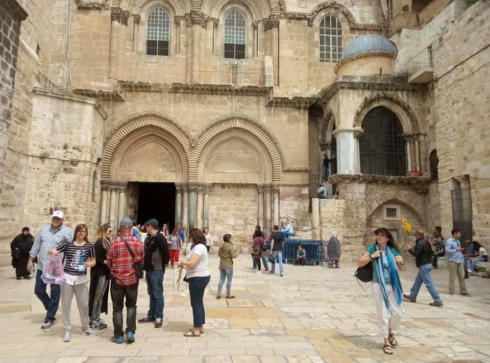 Фото: Центр информации УПЦ, Иерусалим, храм Гроба Господня, 10 апреля.