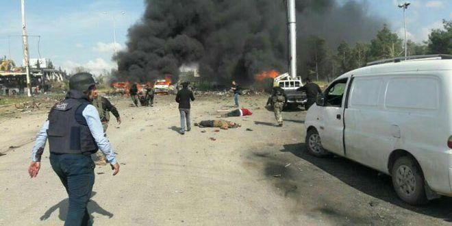 Huge bomb kills dozens of evacuees in Syria / SANA