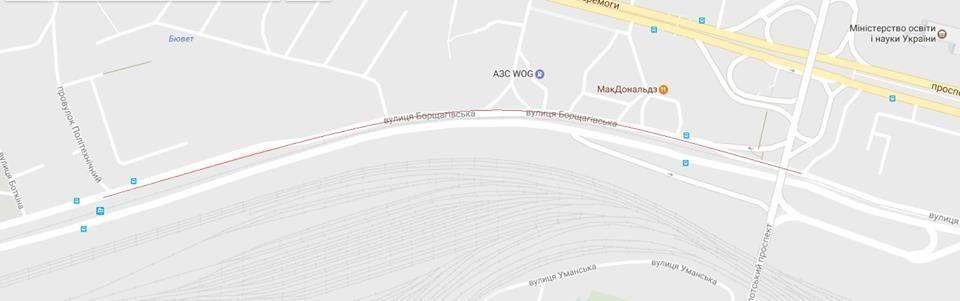 В Киеве затопило улицу Борщагівську /