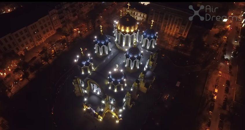 Церкви Києва показали у великодню ніч / Скріншот