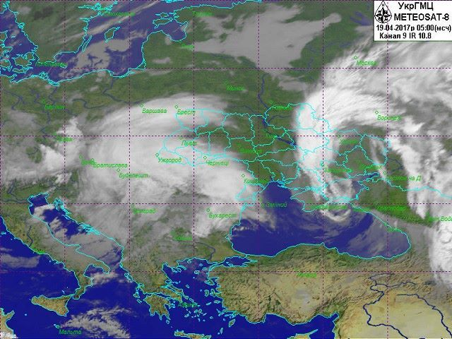 Зміна погоди зумовлена циклонами / facebook.com/ukrgmc.official