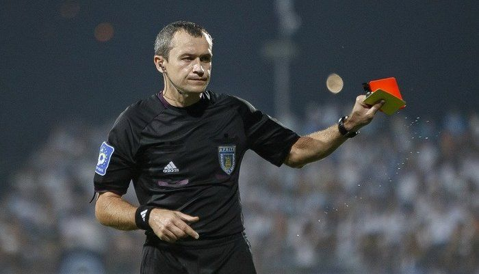 Константин Труханов - арбитр матча
