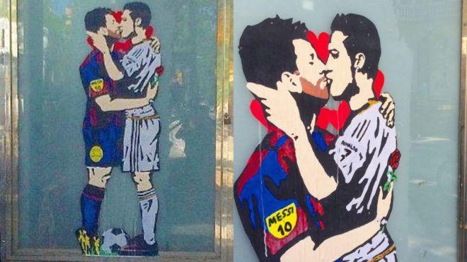 Месси и Роналду изобразили в необычном ракурсе / Isport