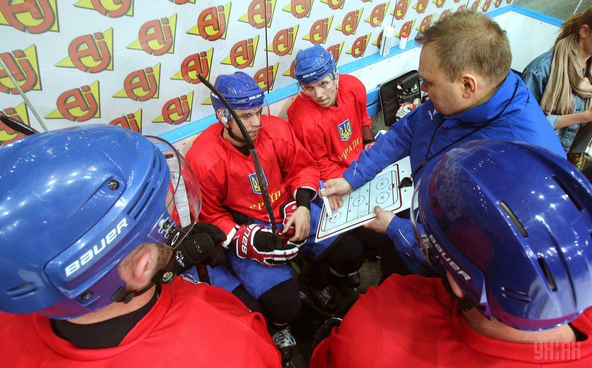 Игроки украинской сборной перед открытой тренировкой / УНИАН