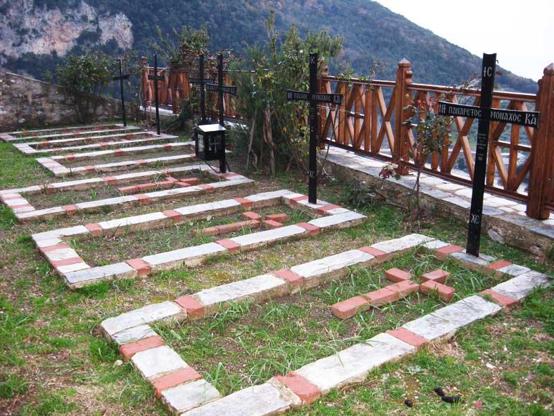 Кладбище монахов монастыря святого Павла, Афон