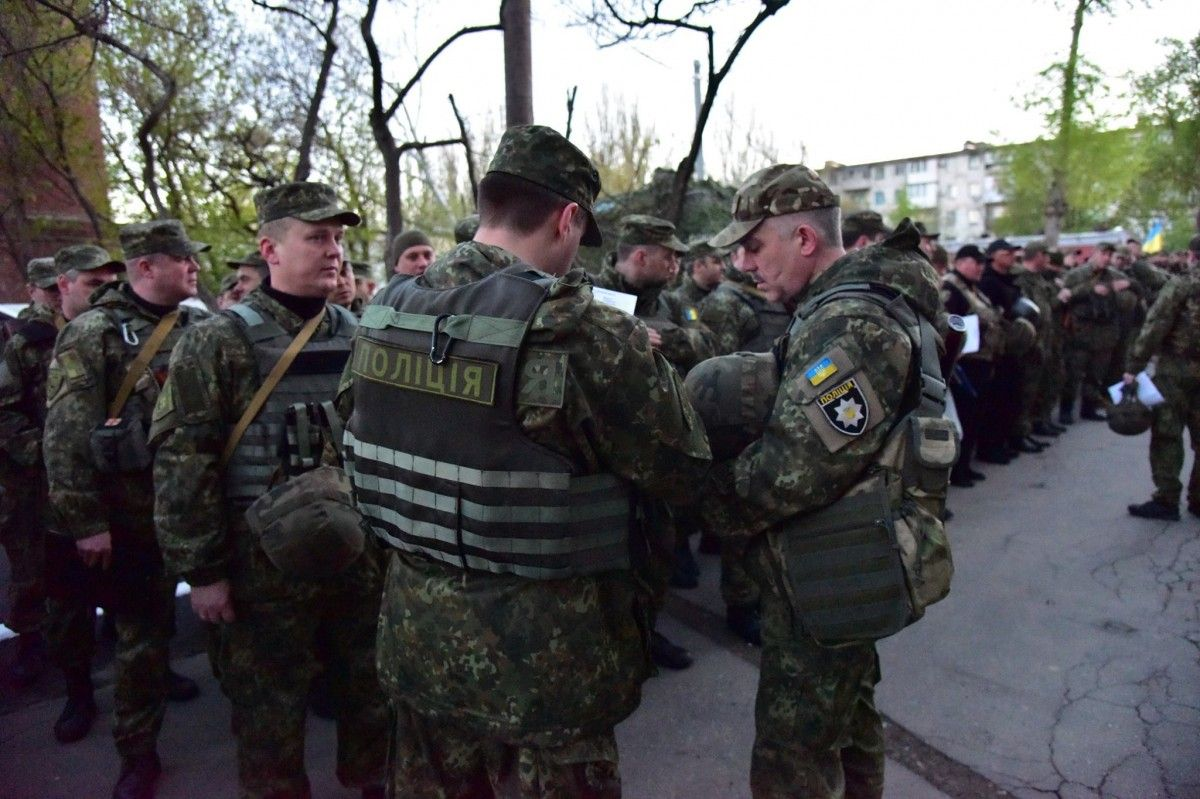 Ukrainian police / Photo from Viacheslav Abroskin's Facebook page