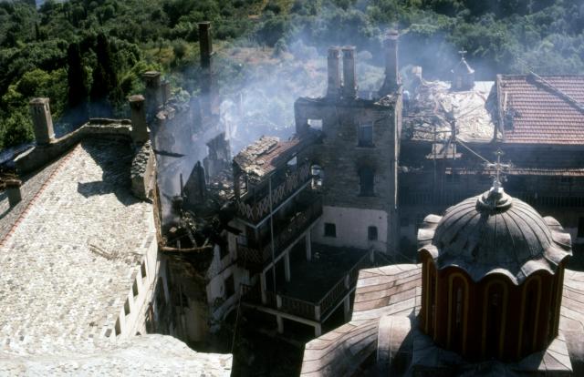 Пожар в монастыре Каракалл, 14 июня 1988 года