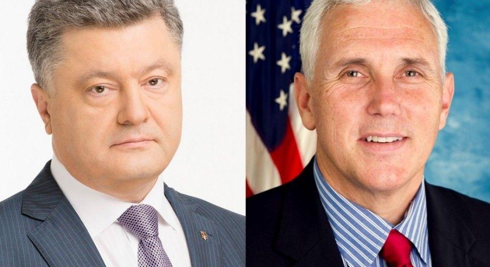Poroshenko, Pence discuss Russia sanctions, reforms, investment