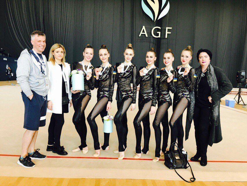 Сборная Украины по художественной гимнастике стала лучшей в Баку  / ukraine-rg.com.ua