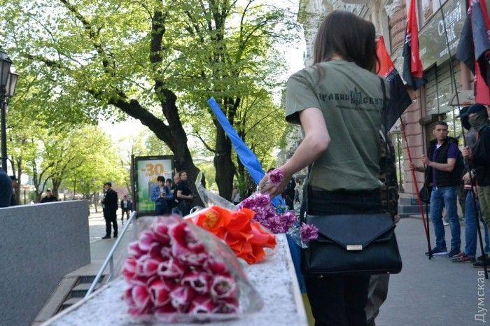 В Одессе почтили погибших патриотов /