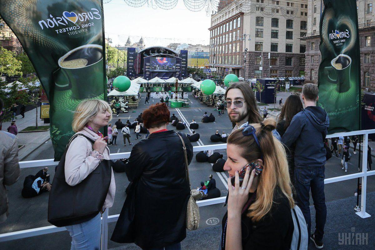 Цьогорічне Євромістечко на Хрещатику є найбільшою в історії конкурсу фан-зоною / Фото УНІАН