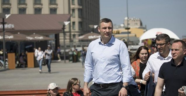 За словами Віталія Кличка, у міста багато планів щодо реновації території Гідропарку / фото КМДА