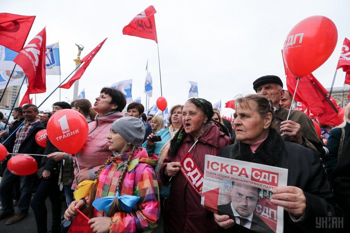 Первомай в Киеве / фото УНИАН