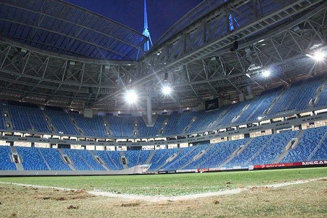 Так сегодня выглядит поле стадиона