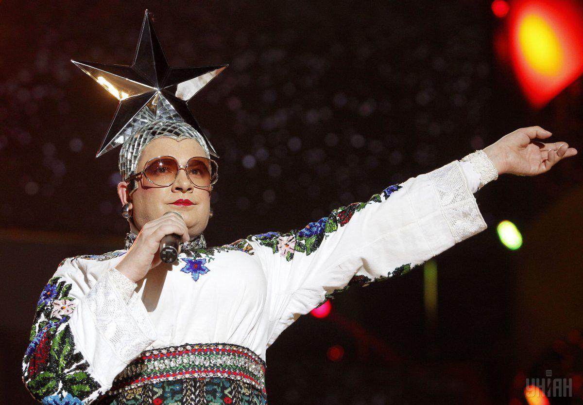 Седючка выступила на сцене конкурса в качестве приглашенного артиста / Фото УНИАН